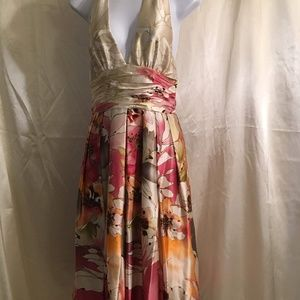 Adrianna Papell Occasions Silk Floral Dress